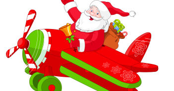 Santa_with_Airplane_PNG_Clipart