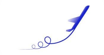 aviao-ascendendo-azul