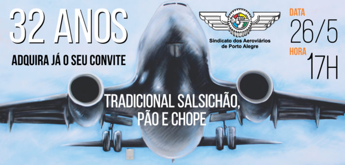 Aeroviários comemoram aniversário do Sindicato na próxima semana