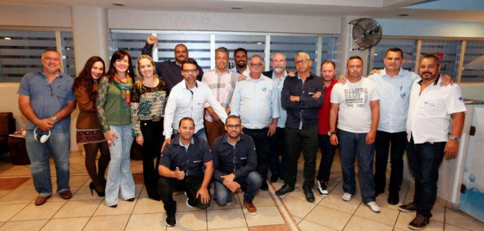 Aeroviários de Porto Alegre estiveram presentes nas reuniões.  Foto: Dino Santos/Mídia Consulte