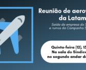 Reunião com trabalhadores da Latam discutirá rumos da Campanha Salarial 2019/2020