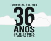 Editorial: Sindicato completa 36 anos e vê momento do país como o pior da história