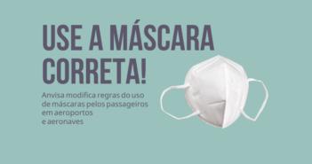 Anvisa modifica regras para uso de máscaras pelos passageiros
